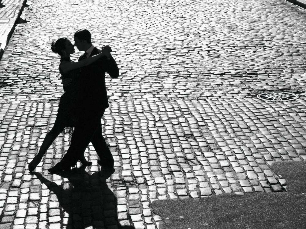 konfigurieren des Kunstdrucks in Wunschgröße Dancers performing the Tango von Anonymous
