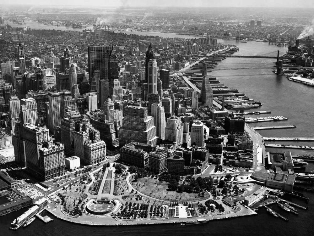 konfigurieren des Kunstdrucks in Wunschgröße Aerial View of Manhattan von Anonymous