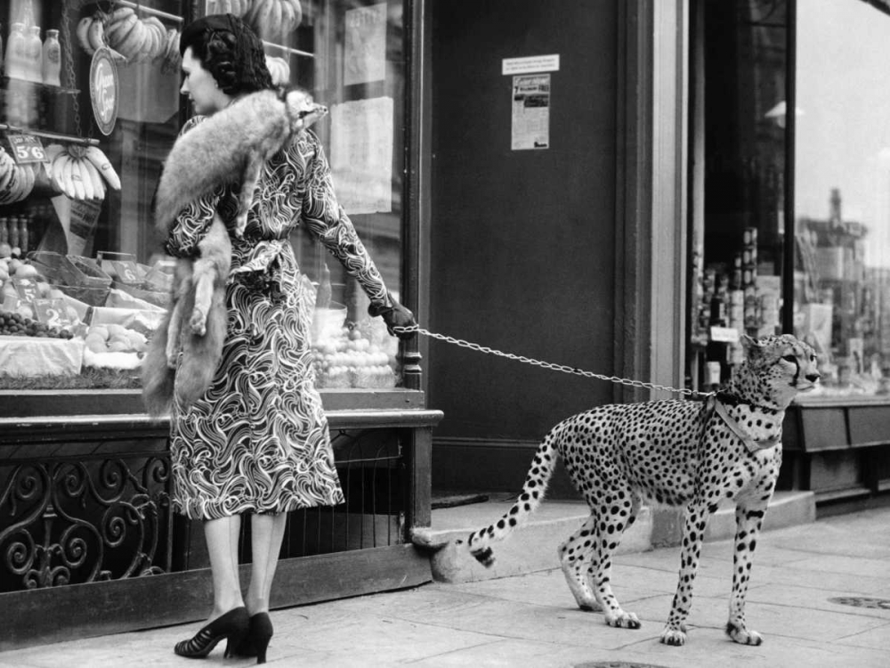 ,Animals,Figurative,,,,3AP2747,Elegant Woman with Cheetah,Anonymous,Horizontal