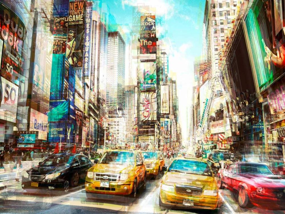 konfigurieren des Kunstdrucks in Wunschgröße Times Square Multiexposure I von Berry, Peter