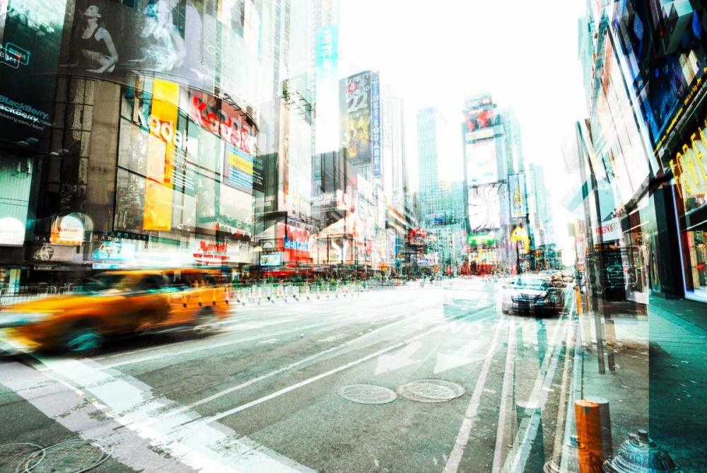 konfigurieren des Kunstdrucks in Wunschgröße Times Square Multiexposure II von Berry, Peter