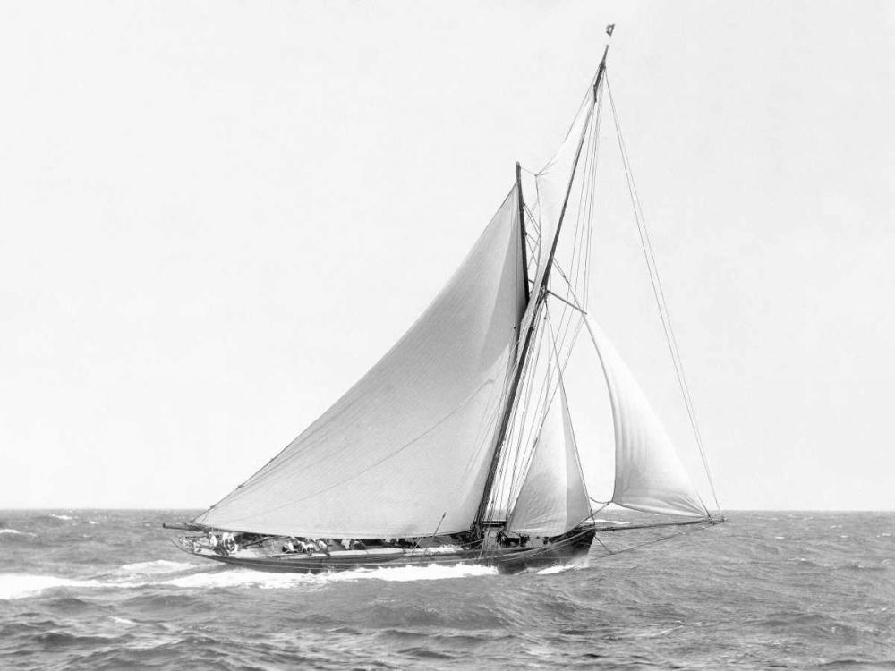 konfigurieren des Kunstdrucks in Wunschgröße Cutter sailing on the ocean, 1910 von Anonymous