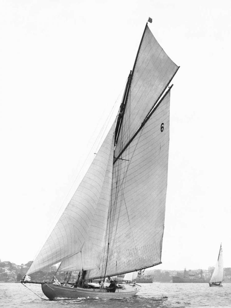 konfigurieren des Kunstdrucks in Wunschgröße Sailing in Sydney Harbour von Anonymous