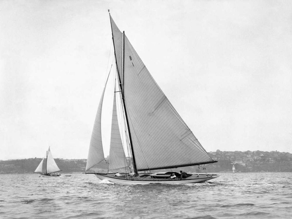 konfigurieren des Kunstdrucks in Wunschgröße Victorian sloop on Sydney Harbour, 1930 von Anonymous