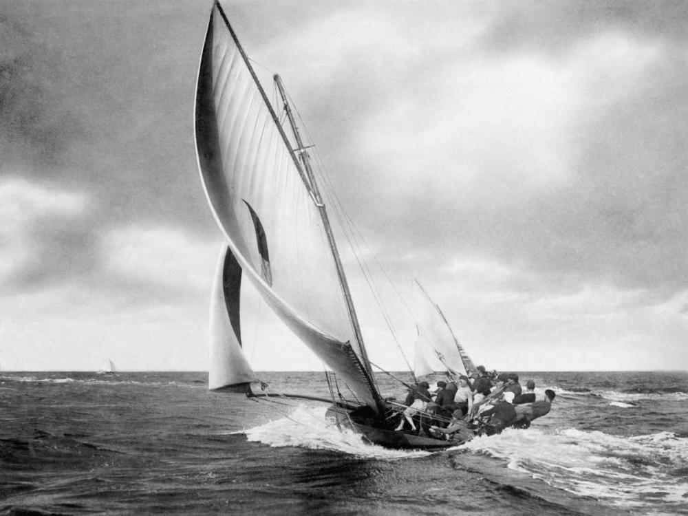 konfigurieren des Kunstdrucks in Wunschgröße Under sail, Sydney Harbour von Anonymous