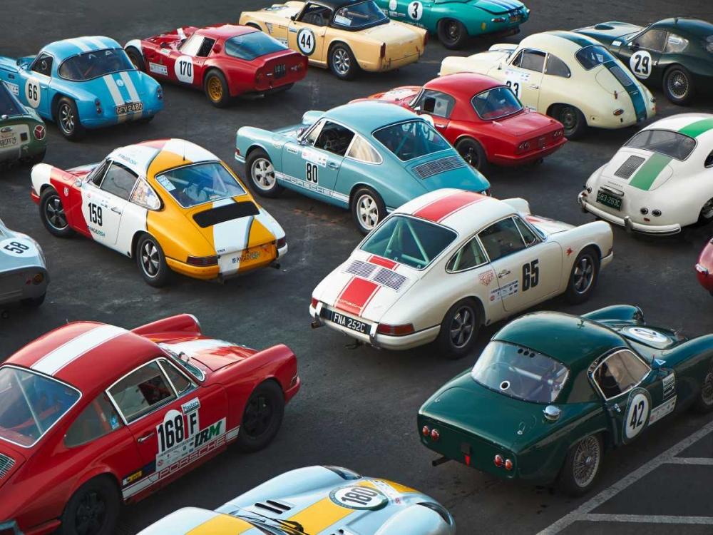konfigurieren des Kunstdrucks in Wunschgröße Vintage sport cars at Grand Prix, Nurburgring von Anonymous