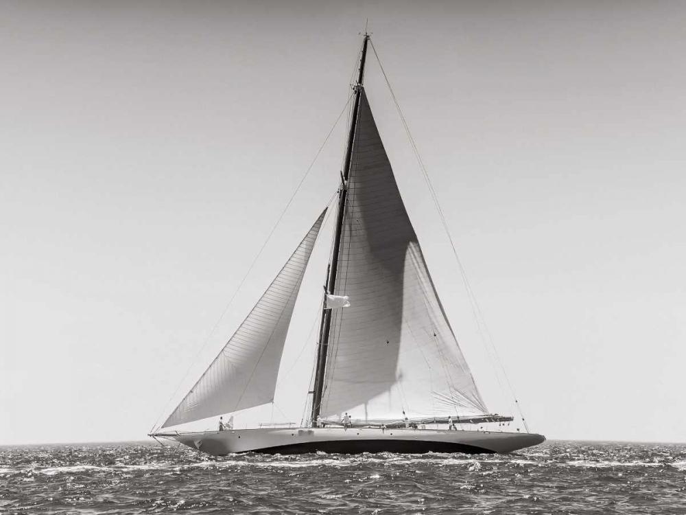 konfigurieren des Kunstdrucks in Wunschgröße Classic racing sailboat von Anonymous