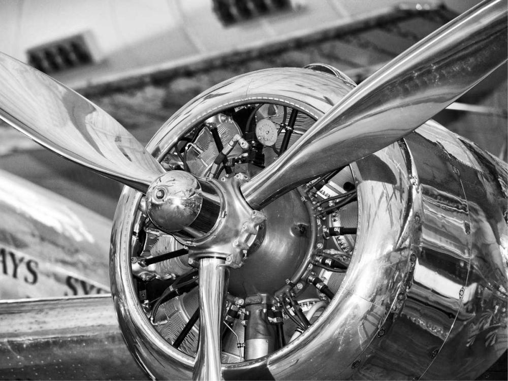 konfigurieren des Kunstdrucks in Wunschgröße Vintage airplane propeller von Anonymous