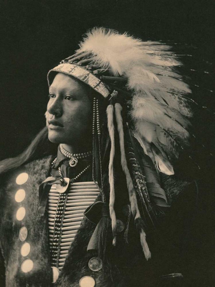 konfigurieren des Kunstdrucks in Wunschgröße John Hollow Horn Bear- Sioux- 1898 von Anonymous
