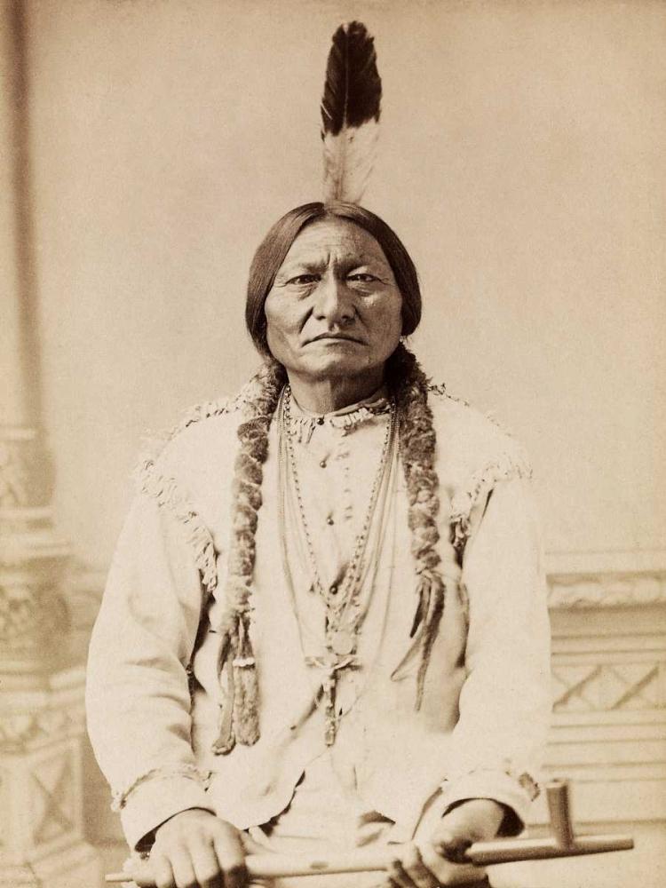 konfigurieren des Kunstdrucks in Wunschgröße Sitting Bull- Lakota- 1885 von Anonymous