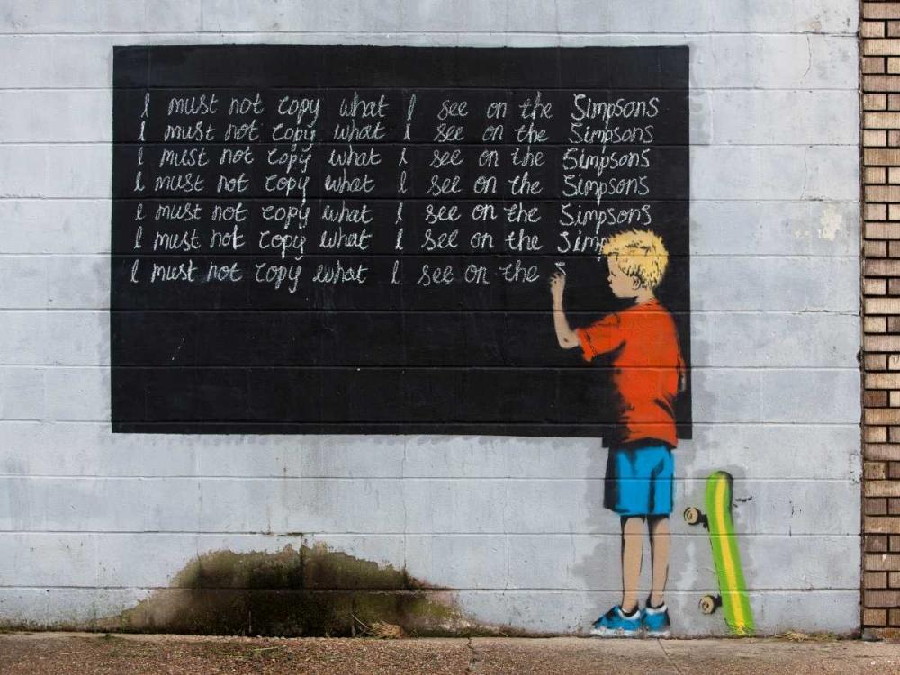 Sammlung Banksy Art auf Leinwand mit Rahmen ansehen