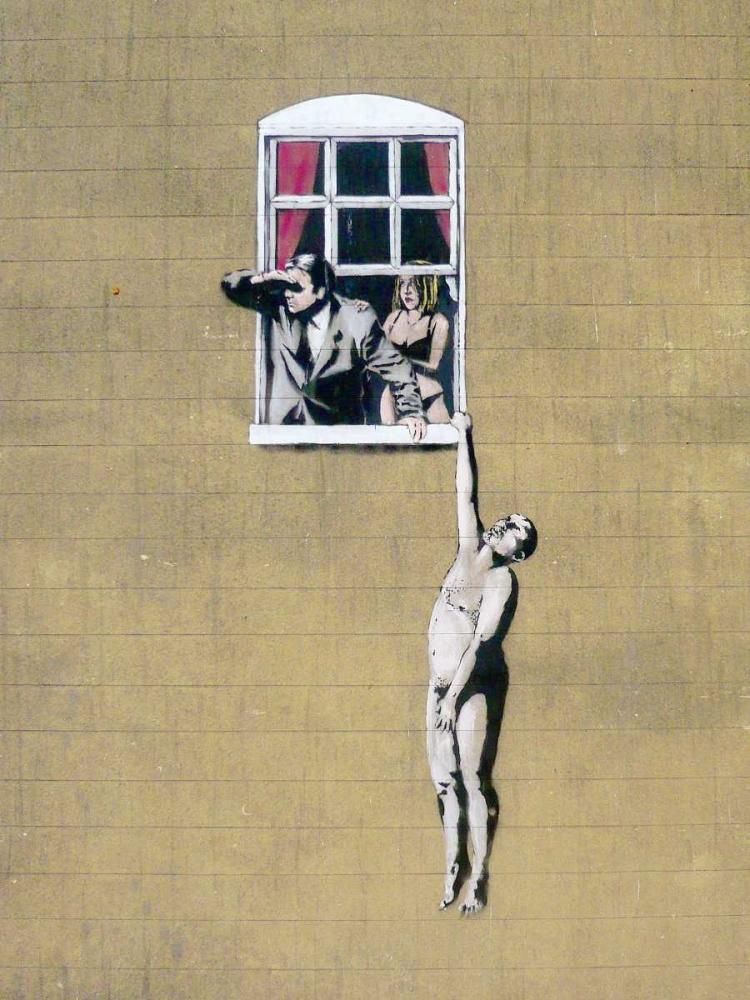 konfigurieren des Kunstdrucks in Wunschgröße Park Street, Bristol (graffiti attributed to Banksy) von Anonymous (attributed to Banksy)