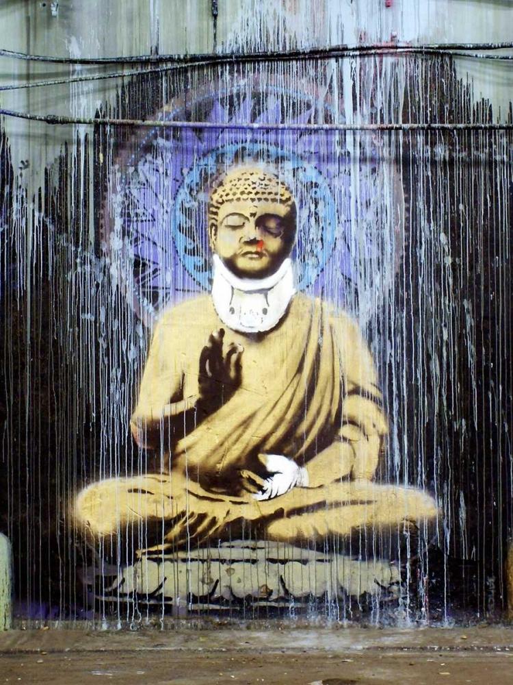 konfigurieren des Kunstdrucks in Wunschgröße Leake Street, London (graffiti attributed to Banksy) von Anonymous (attributed to Banksy)