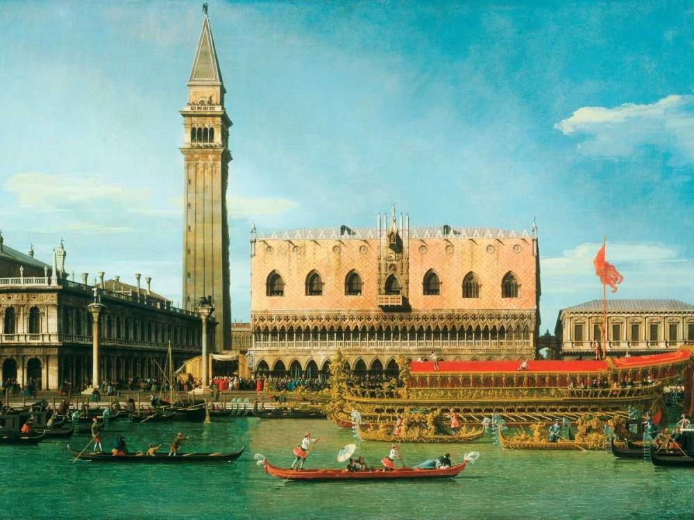 konfigurieren des Kunstdrucks in Wunschgröße The Bucintoro at the Molo on Ascension Day von Canaletto