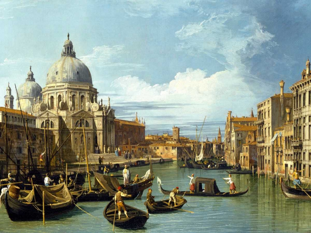 konfigurieren des Kunstdrucks in Wunschgröße The Entrance to the Grand Canal Venice von Canaletto