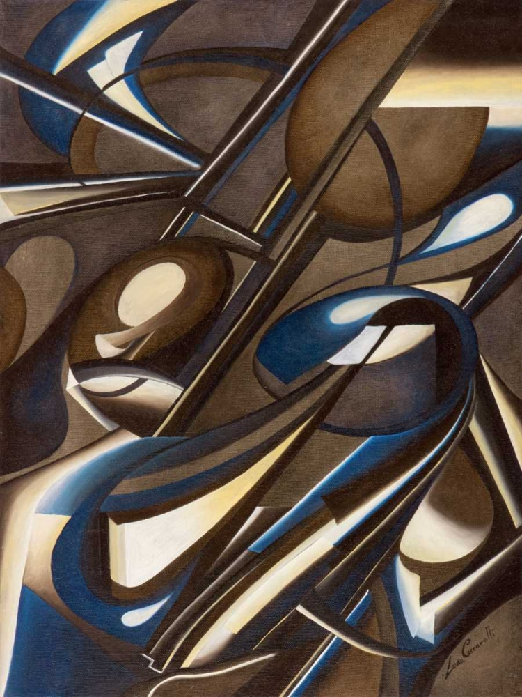 konfigurieren des Kunstdrucks in Wunschgröße Due di due von Ceccarelli, Laura