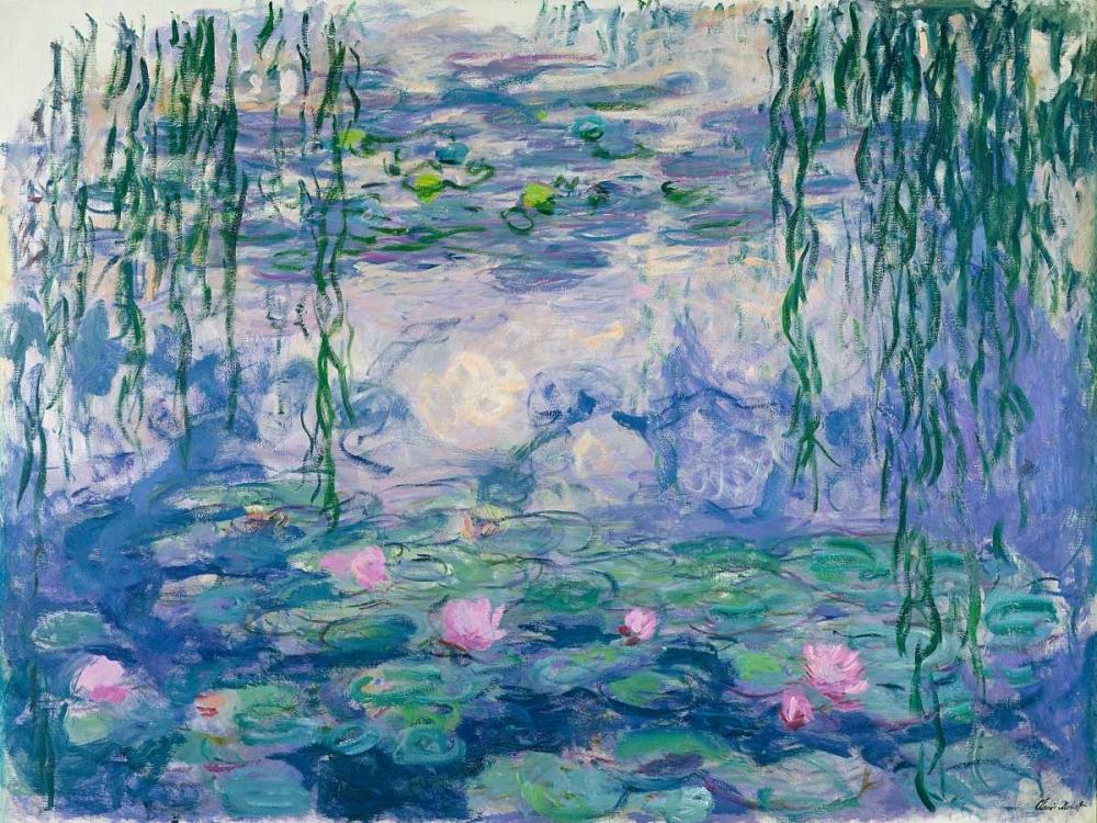 konfigurieren des Kunstdrucks in Wunschgröße Waterlilies von Monet, Claude