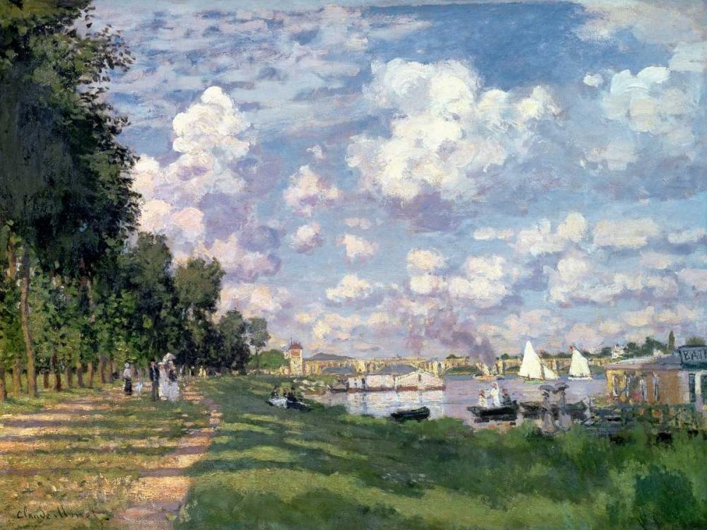 konfigurieren des Kunstdrucks in Wunschgröße The Marina at Argenteuil von Monet, Claude
