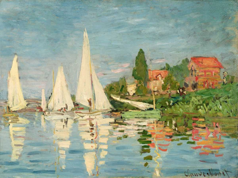 konfigurieren des Kunstdrucks in Wunschgröße Regatta at Argenteuil von Monet, Claude