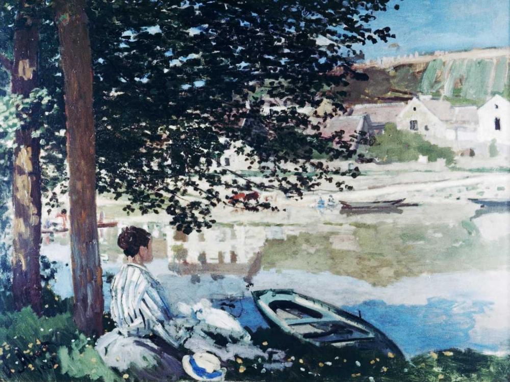 konfigurieren des Kunstdrucks in Wunschgröße On the Seine at Bennecourt von Monet, Claude
