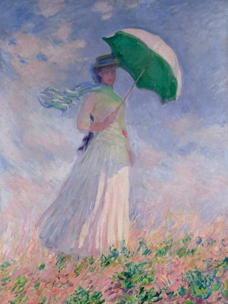 konfigurieren des Kunstdrucks in Wunschgröße Woman with a Parasol-Right von Monet, Claude