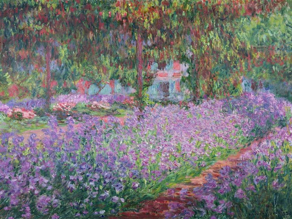 konfigurieren des Kunstdrucks in Wunschgröße The Artists Garden at Giverny von Monet, Claude
