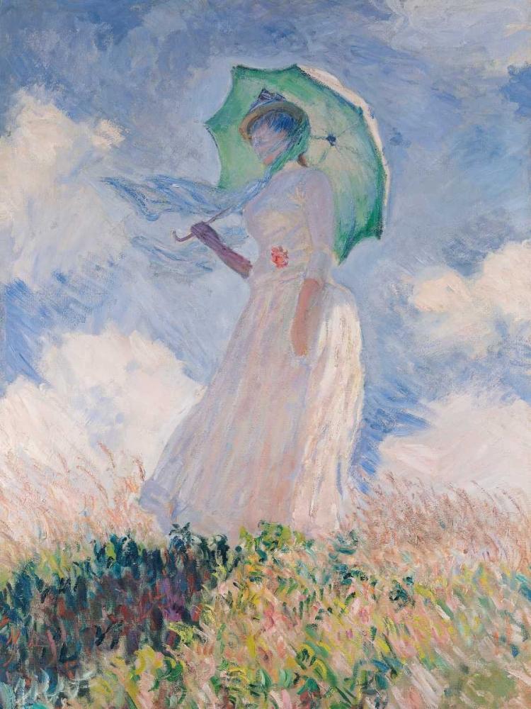 konfigurieren des Kunstdrucks in Wunschgröße Woman with Parasol-Left von Monet, Claude