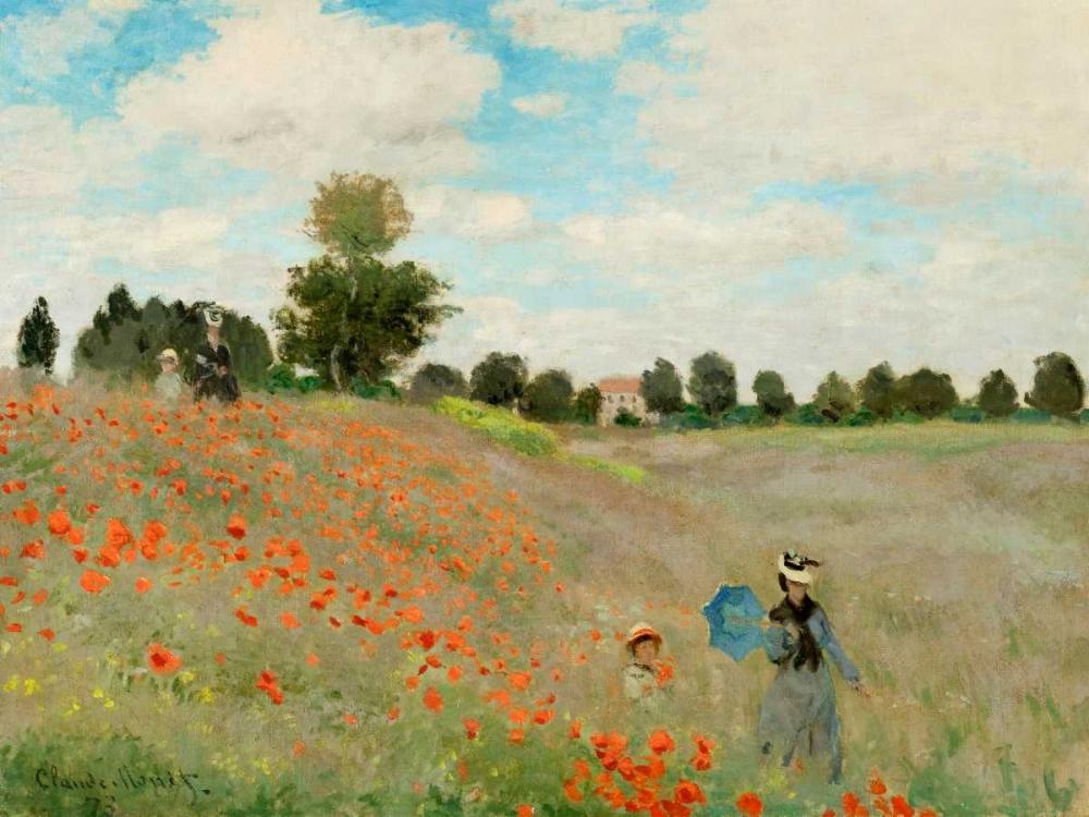 konfigurieren des Kunstdrucks in Wunschgröße Coquelicots von Monet, Claude