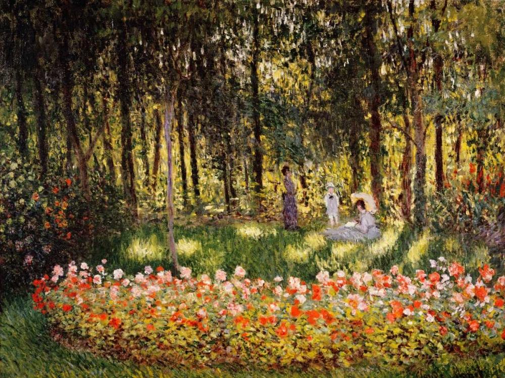 konfigurieren des Kunstdrucks in Wunschgröße Wooded Scene von Monet, Claude