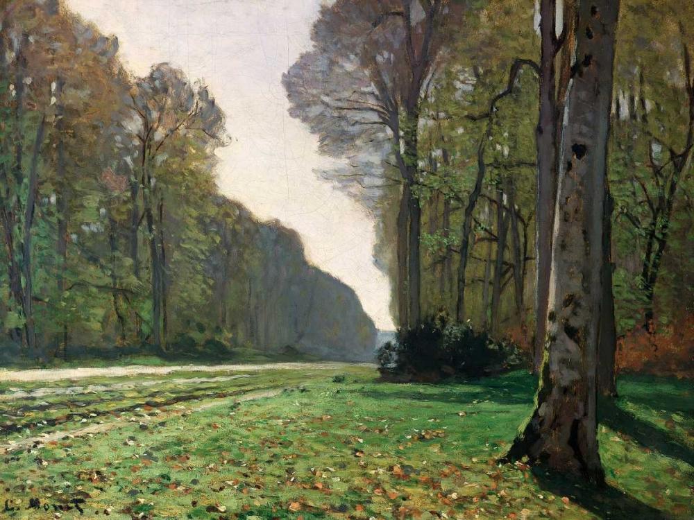 konfigurieren des Kunstdrucks in Wunschgröße Le Pave de Chailly von Monet, Claude