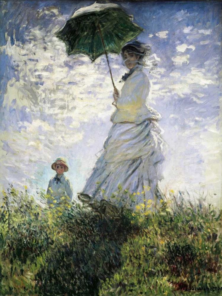 konfigurieren des Kunstdrucks in Wunschgröße Femme a l'ombrelle von Monet, Claude