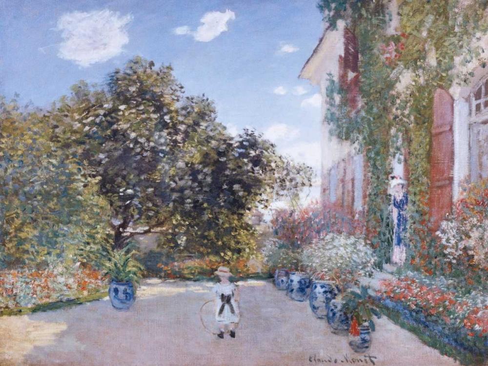 konfigurieren des Kunstdrucks in Wunschgröße Garden of the Artist at Argenteuil von Monet, Claude