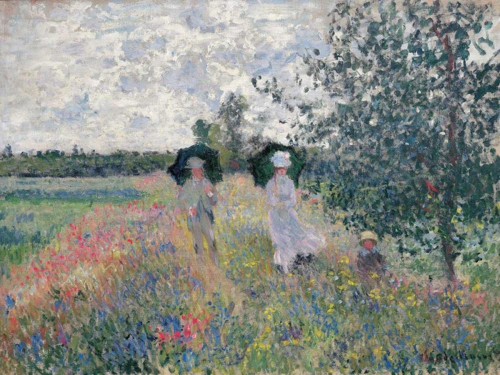 konfigurieren des Kunstdrucks in Wunschgröße Promenade pres d'Argenteuil von Monet, Claude