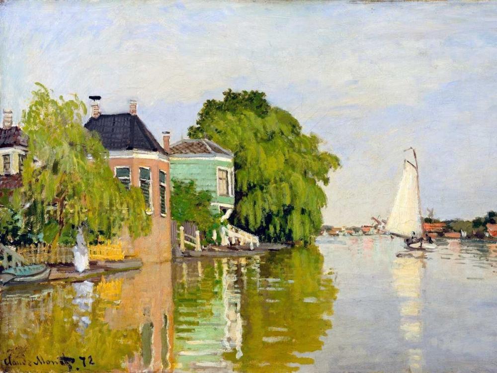 konfigurieren des Kunstdrucks in Wunschgröße Houses on the Achterzaan von Monet, Claude