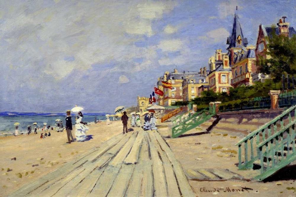 konfigurieren des Kunstdrucks in Wunschgröße Plage de Trouville von Monet, Claude