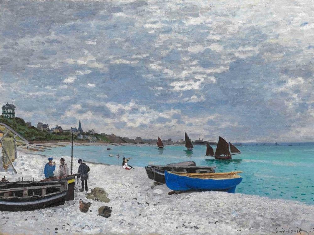 konfigurieren des Kunstdrucks in Wunschgröße The Beach at Sainte-Adresse von Monet, Claude
