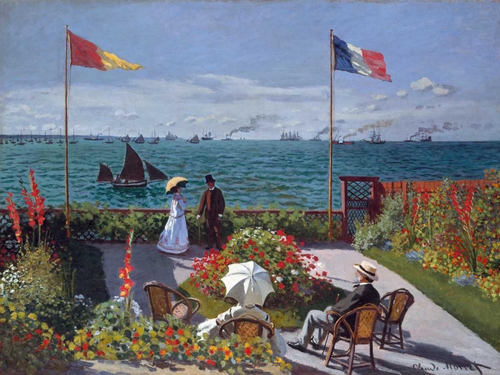 konfigurieren des Kunstdrucks in Wunschgröße Terrasse a Sainte-Adresse von Monet, Claude