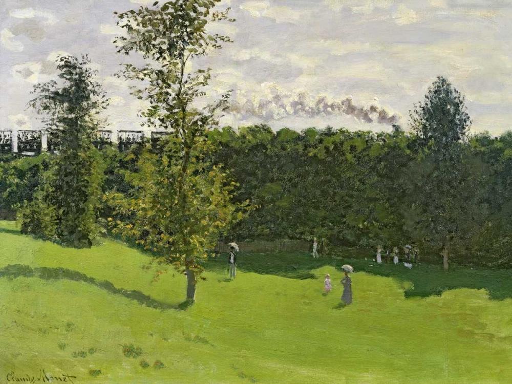 konfigurieren des Kunstdrucks in Wunschgröße The Train in the Country von Monet, Claude