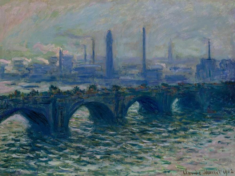 konfigurieren des Kunstdrucks in Wunschgröße Waterloo Bridge London von Monet, Claude
