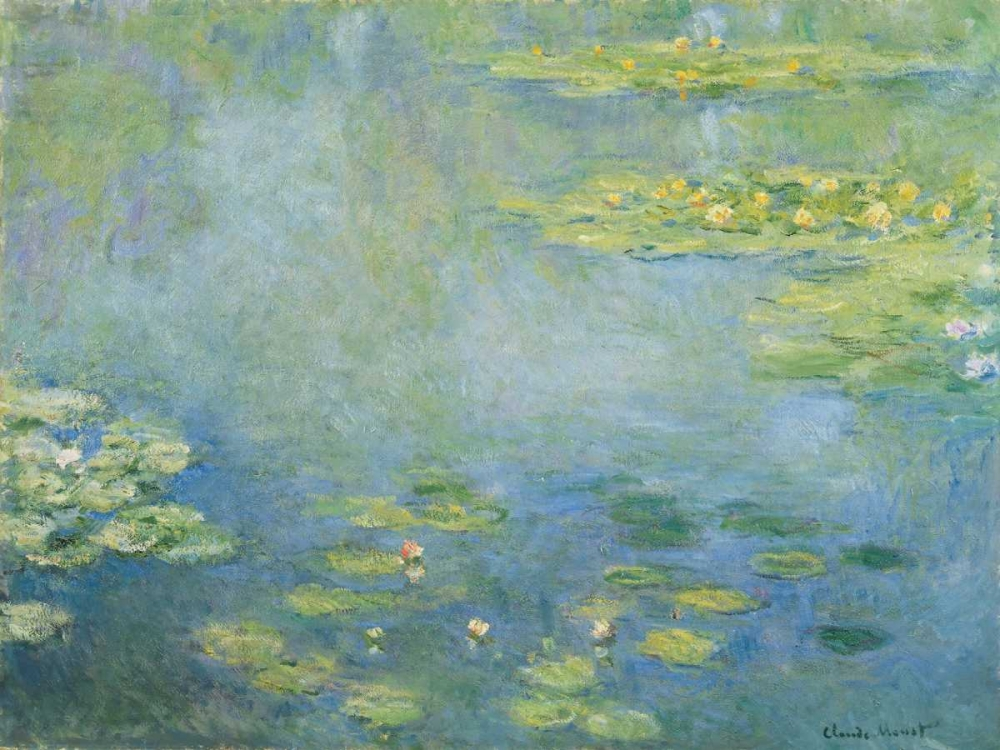 Waterlilies,Monet, Claude,Horizontal,.,Landscape,Nature,,,,,Impressionism,,3CM1509