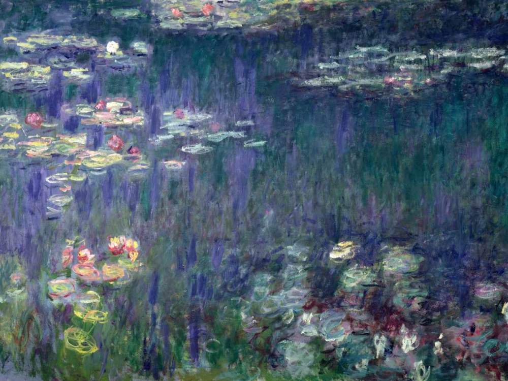 konfigurieren des Kunstdrucks in Wunschgröße Waterlilies- Green Reflections von Monet, Claude