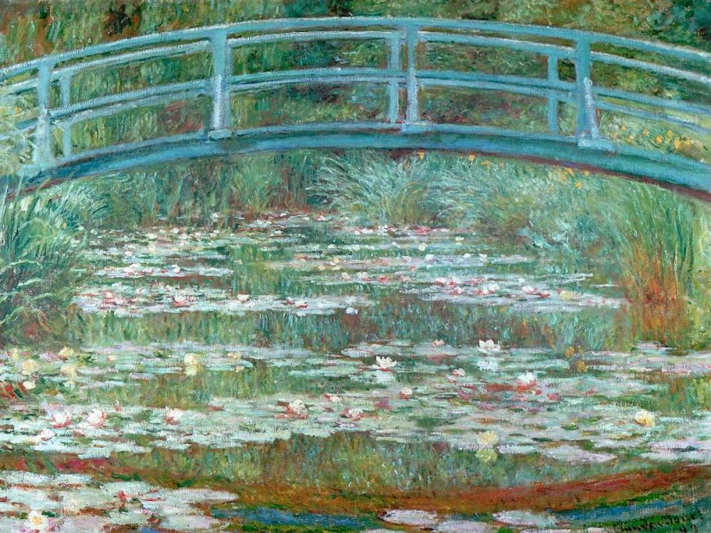 konfigurieren des Kunstdrucks in Wunschgröße Water Lily Pool von Monet, Claude