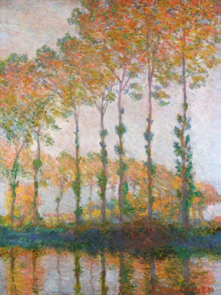 konfigurieren des Kunstdrucks in Wunschgröße Poplars on the Banks of the l Epte Autumn von Monet, Claude