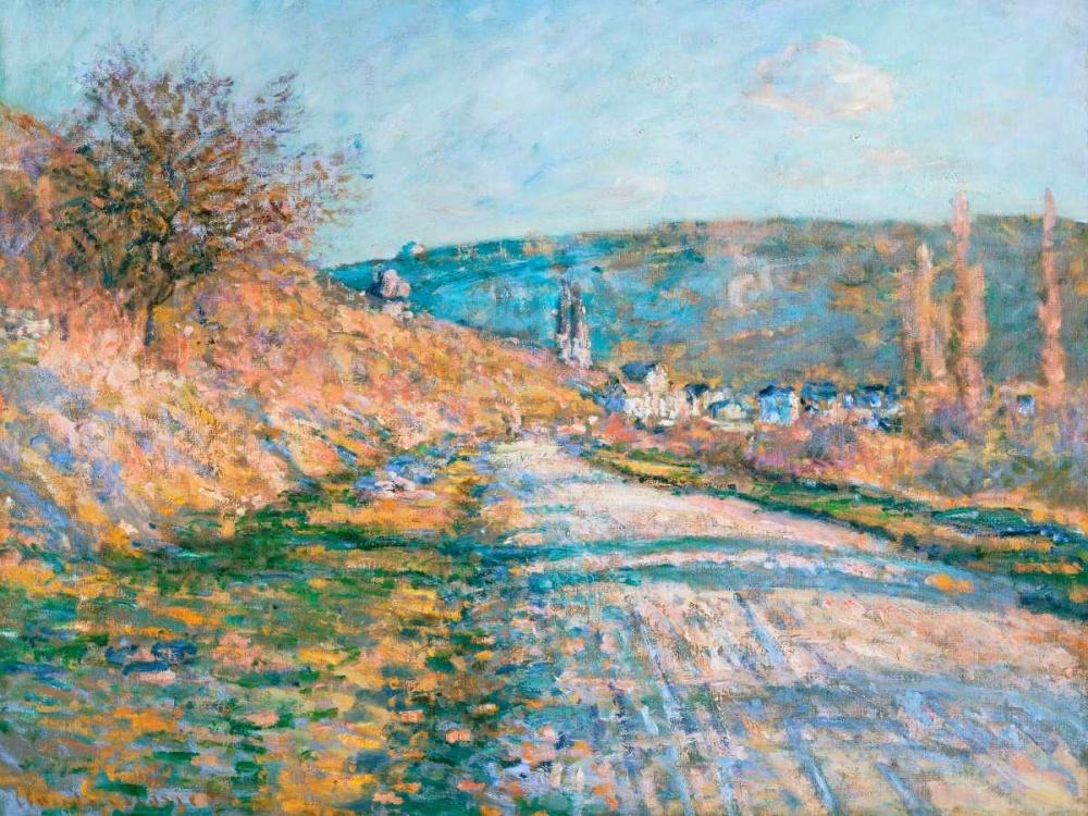 konfigurieren des Kunstdrucks in Wunschgröße The Road to Vetheuil von Monet, Claude