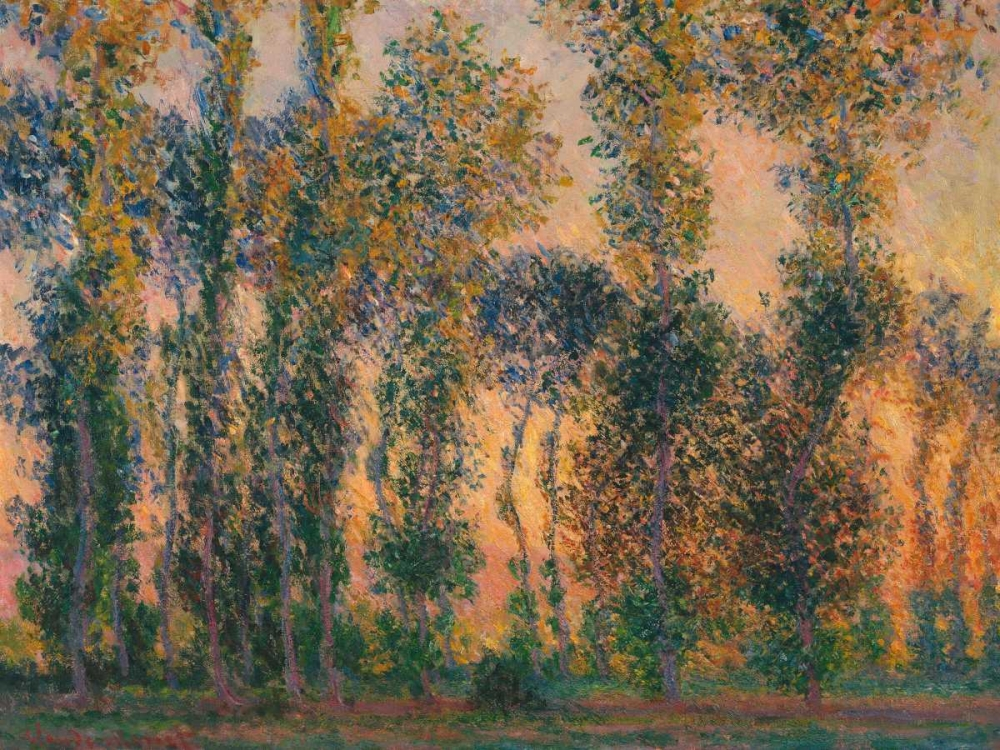 konfigurieren des Kunstdrucks in Wunschgröße Poplars at Giverny - Sunrise von Monet, Claude