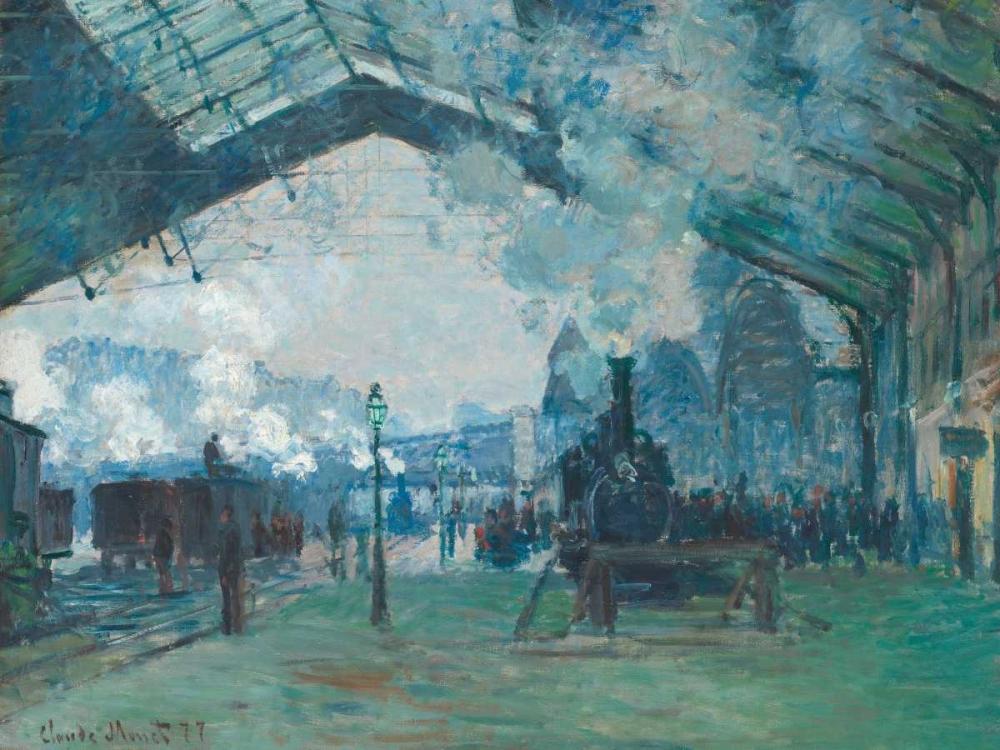 konfigurieren des Kunstdrucks in Wunschgröße Arrival of the Normandy Train - Gare Saint-Lazare von Monet, Claude