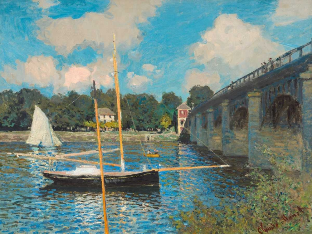 konfigurieren des Kunstdrucks in Wunschgröße The bridge at Argenteuil von Monet, Claude