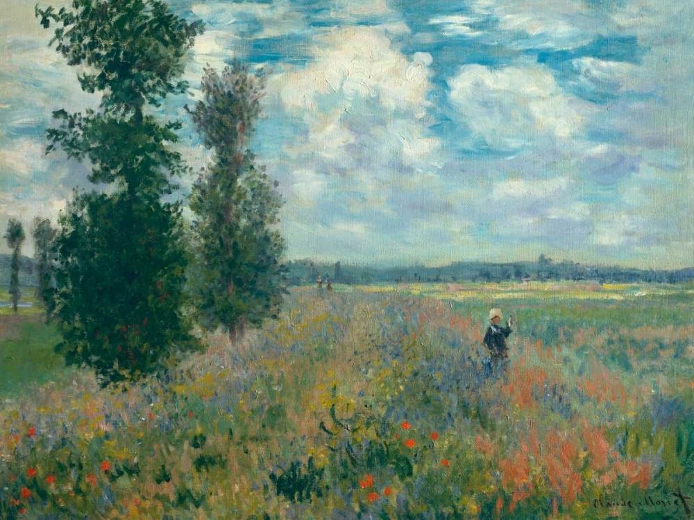konfigurieren des Kunstdrucks in Wunschgröße Poppy Fields near Argenteuil von Monet, Claude