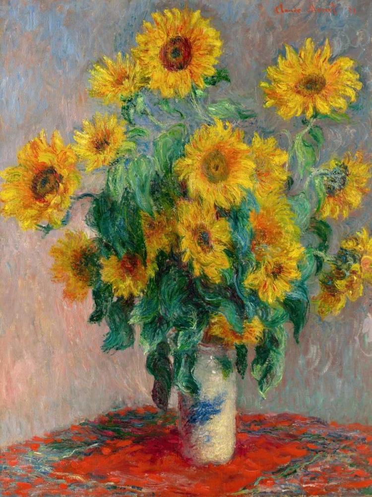 konfigurieren des Kunstdrucks in Wunschgröße Sunflowers von Monet, Claude