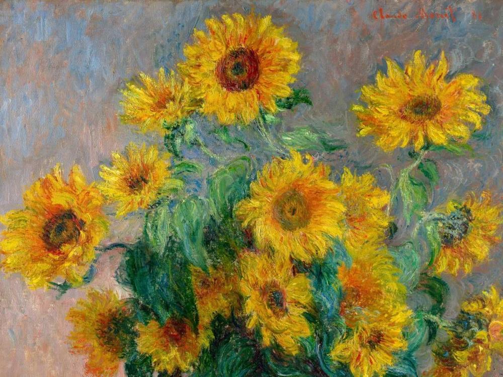 konfigurieren des Kunstdrucks in Wunschgröße Sunflowers (detail) von Monet, Claude